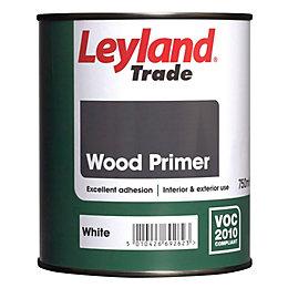 Leyland Trade White Matt Primer 0.75L Tin