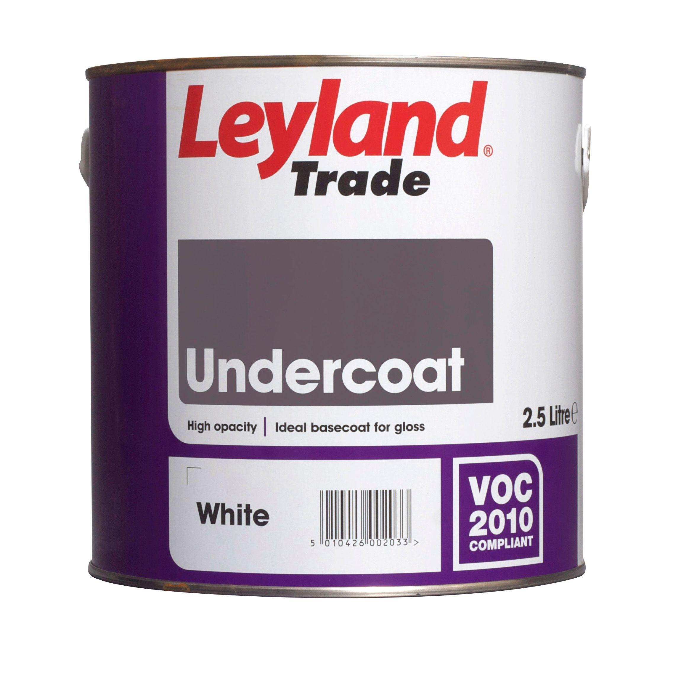 Leyland Trade White Primer Amp Undercoat 2500ml