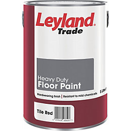 Leyland Trade Heavy Duty Tile Red Satin Floor