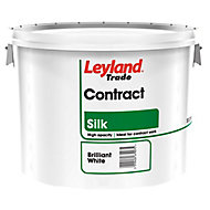Leyland Trade Contract Brilliant white Silk Emulsion paint 10L