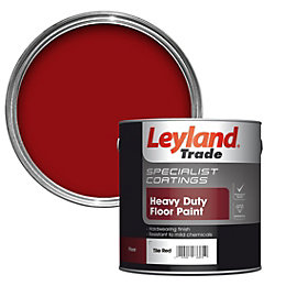 Leyland Trade Heavy Duty Tile Red Satin Floor