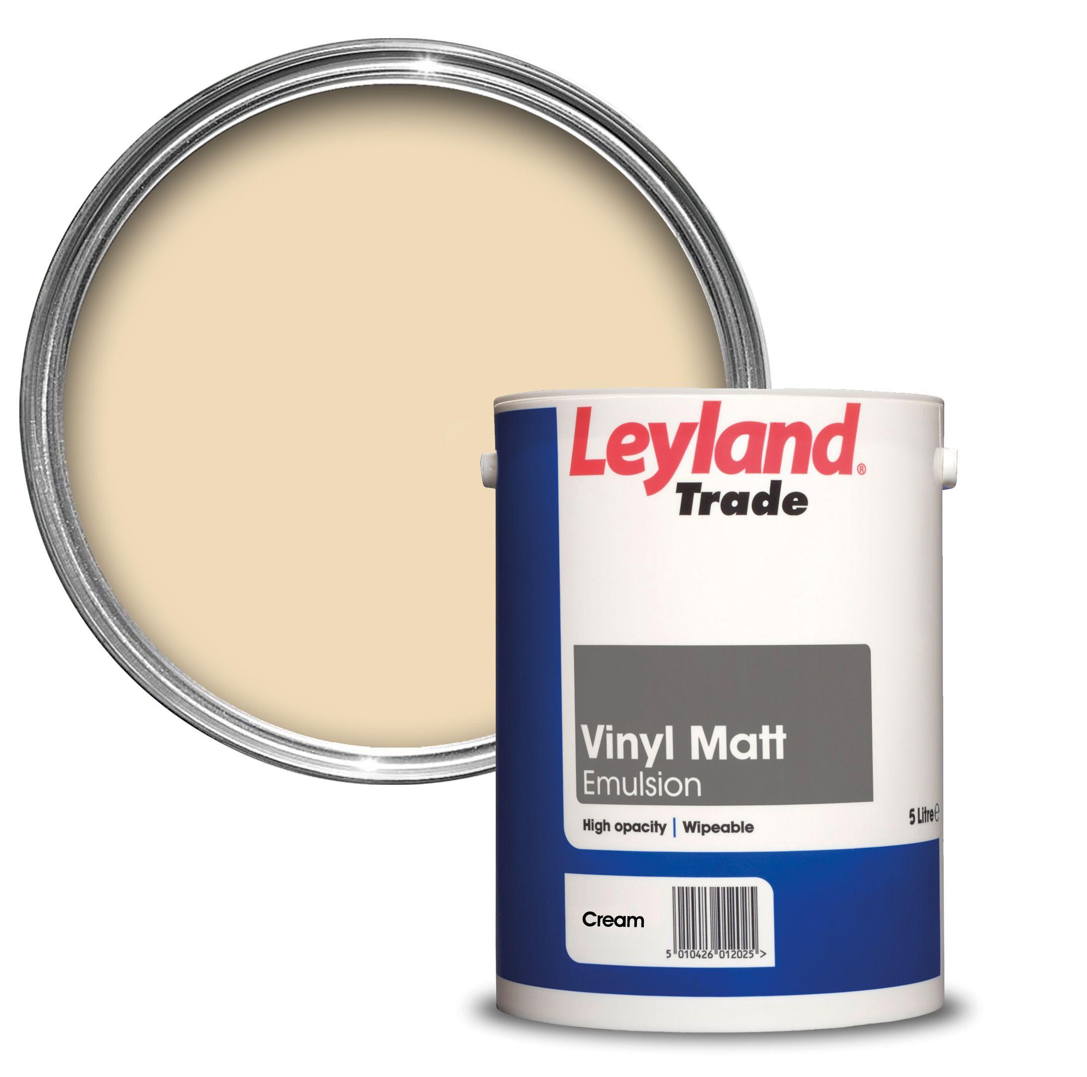 Leyland Trade Cream Matt Emulsion Paint 5l Departments