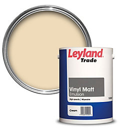 Leyland Trade Cream Matt Emulsion Paint 5L