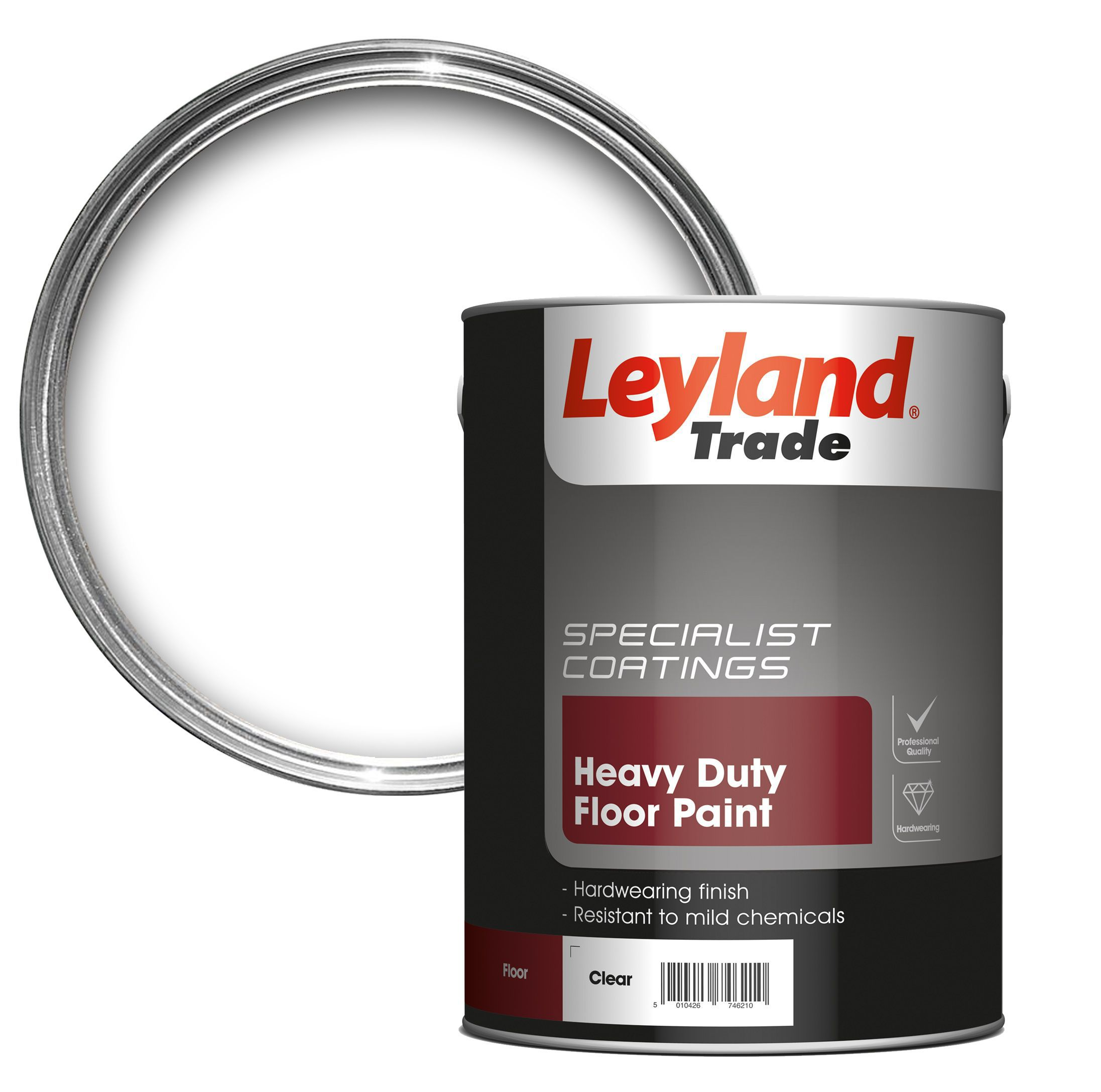Leyland trade heavy duty clear satin floor tile paint5l leyland trade heavy duty clear satin floor tile paint5l departments diy at bq dailygadgetfo Image collections