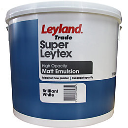 Leyland Trade Brilliant White Matt Emulsion Paint 12L