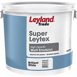 Leyland White Matt Emulsion paint 15L