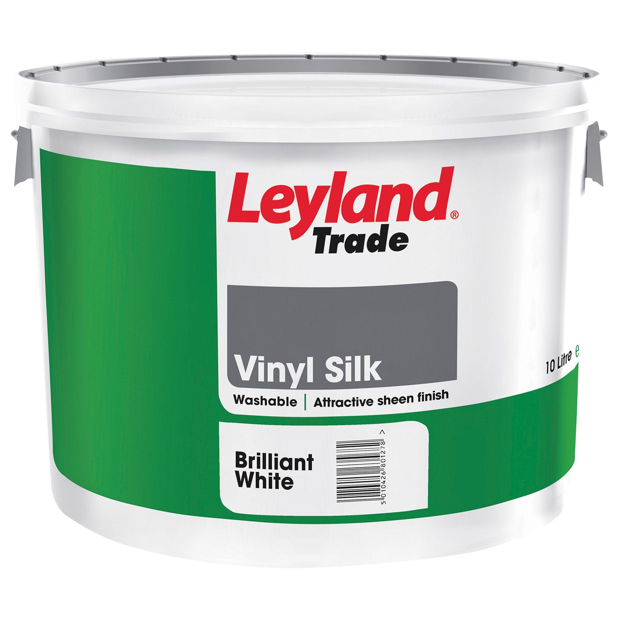 Leyland White Vinyl Silk Emulsion Paint 10l Departments