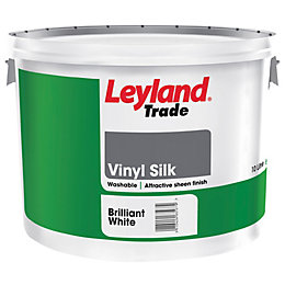 Leyland White Vinyl silk Emulsion paint 10L