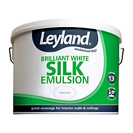 Leyland Brilliant white Silk Emulsion paint 10L