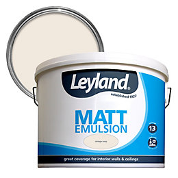 Leyland Vintage ivory Matt Emulsion paint 10L