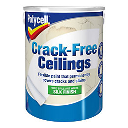 Polycell Crack Free White Smooth Silk Paint 5L