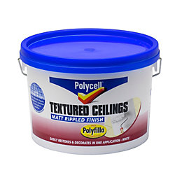 Polycell Polyripple White Matt Emulsion paint 2.5L