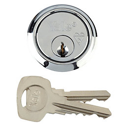 Yale Chrome-Plated Rim Cylinder Lock