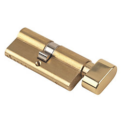 Yale 70mm Brass Euro Cylinder Thumbturn Lock