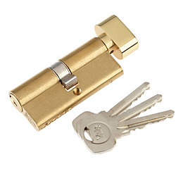 Yale 80mm Brass-plated Thumbturn euro cylinder lock