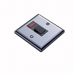 Volex 20A Double Pole Iridium Switched Cooker Switch
