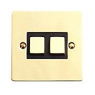 Volex 20A Single Polished Brass Effect Bath or Sink Switch