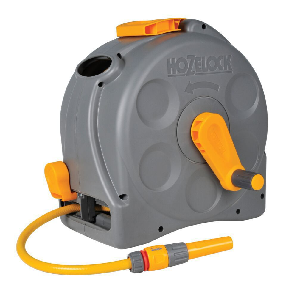 Hozelock 2 In 1 Wall Mounted Hose Reel Amp Hose L 25 M
