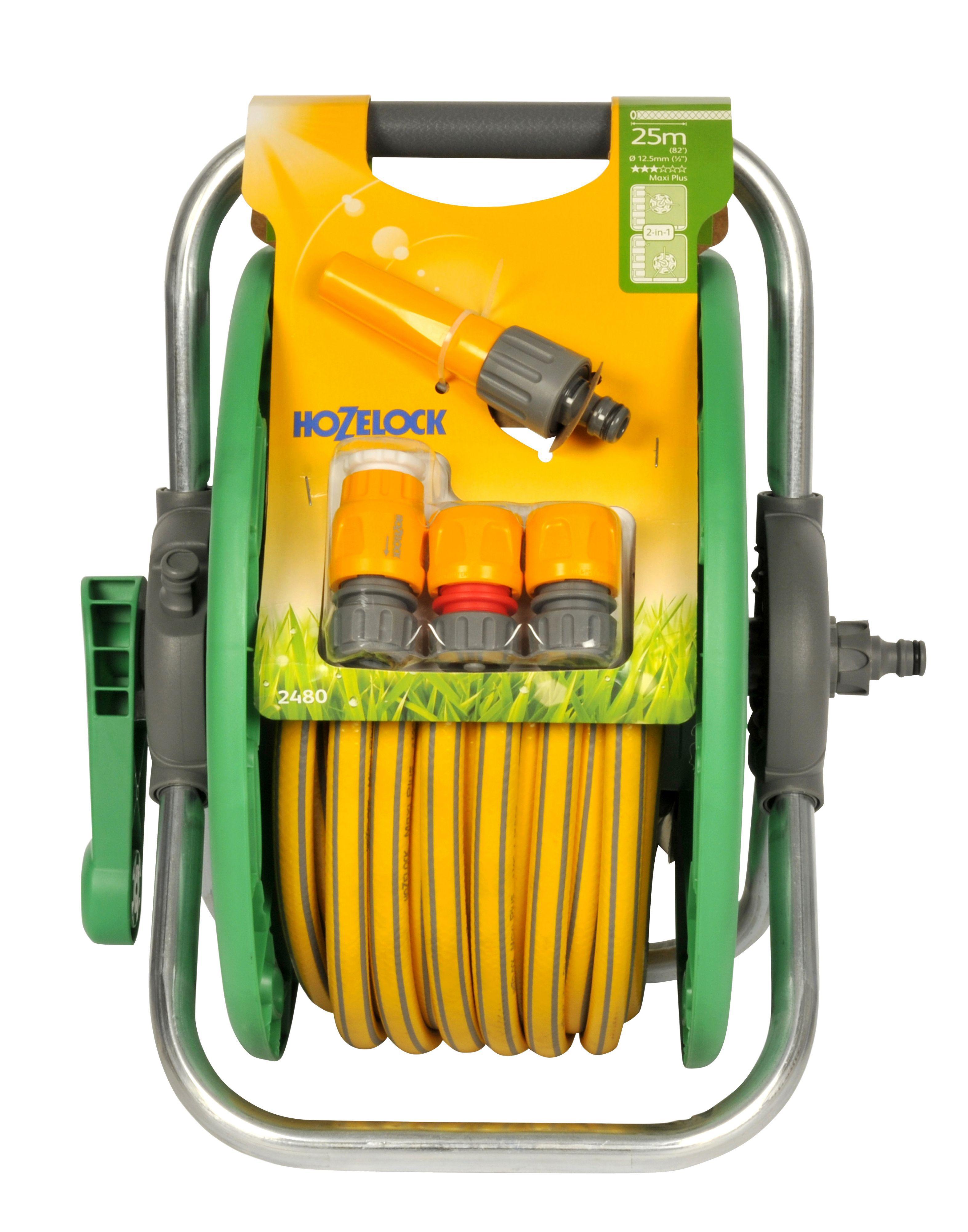 Hozelock Standard Hose Reel & Hose Cart (L)25 M | Departments | DIY ...