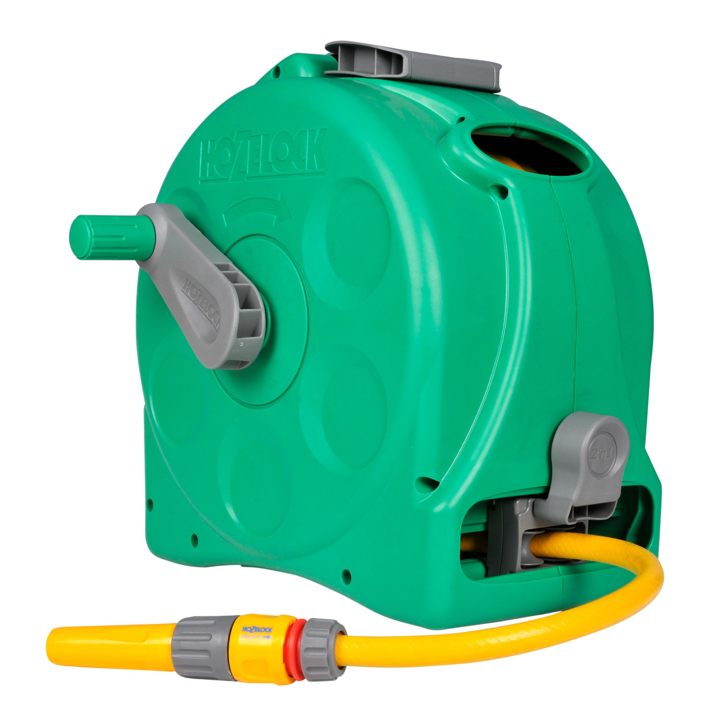 Hozelock Freestanding Or Wall Mounted Enclosed Hose Reel