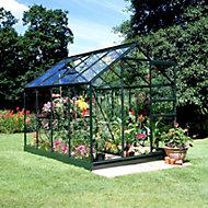 B&Q Metal 6x8 Horticultural glass greenhouse
