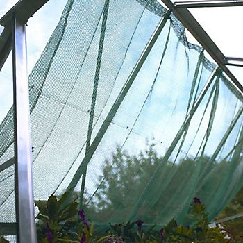 Halls Durable Greenhouse Shading hung in greenhouse