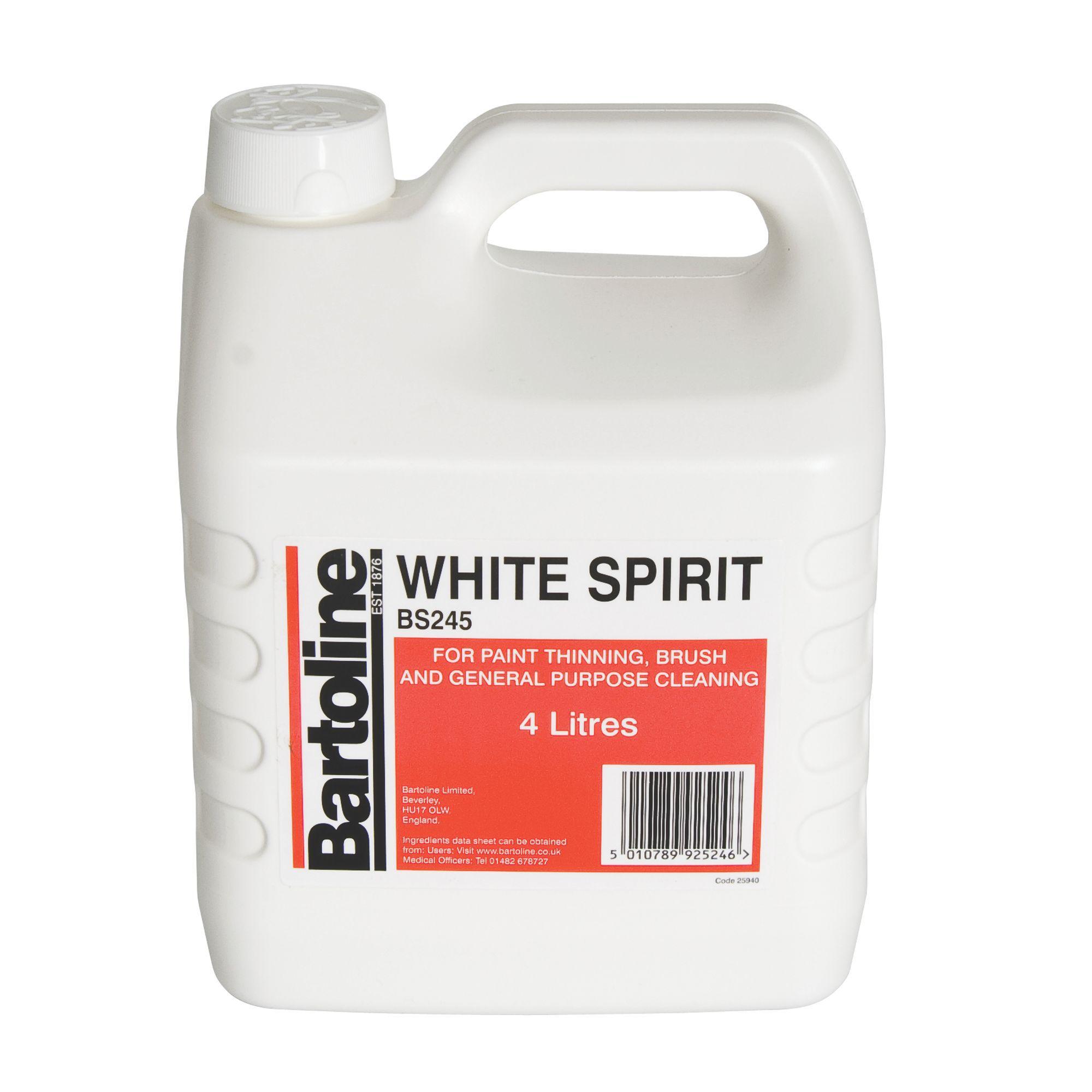 Bartoline White spirit 4L   Departments   DIY at B&Q