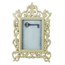 Cream Single frame Resin Picture frame (H)165mm x