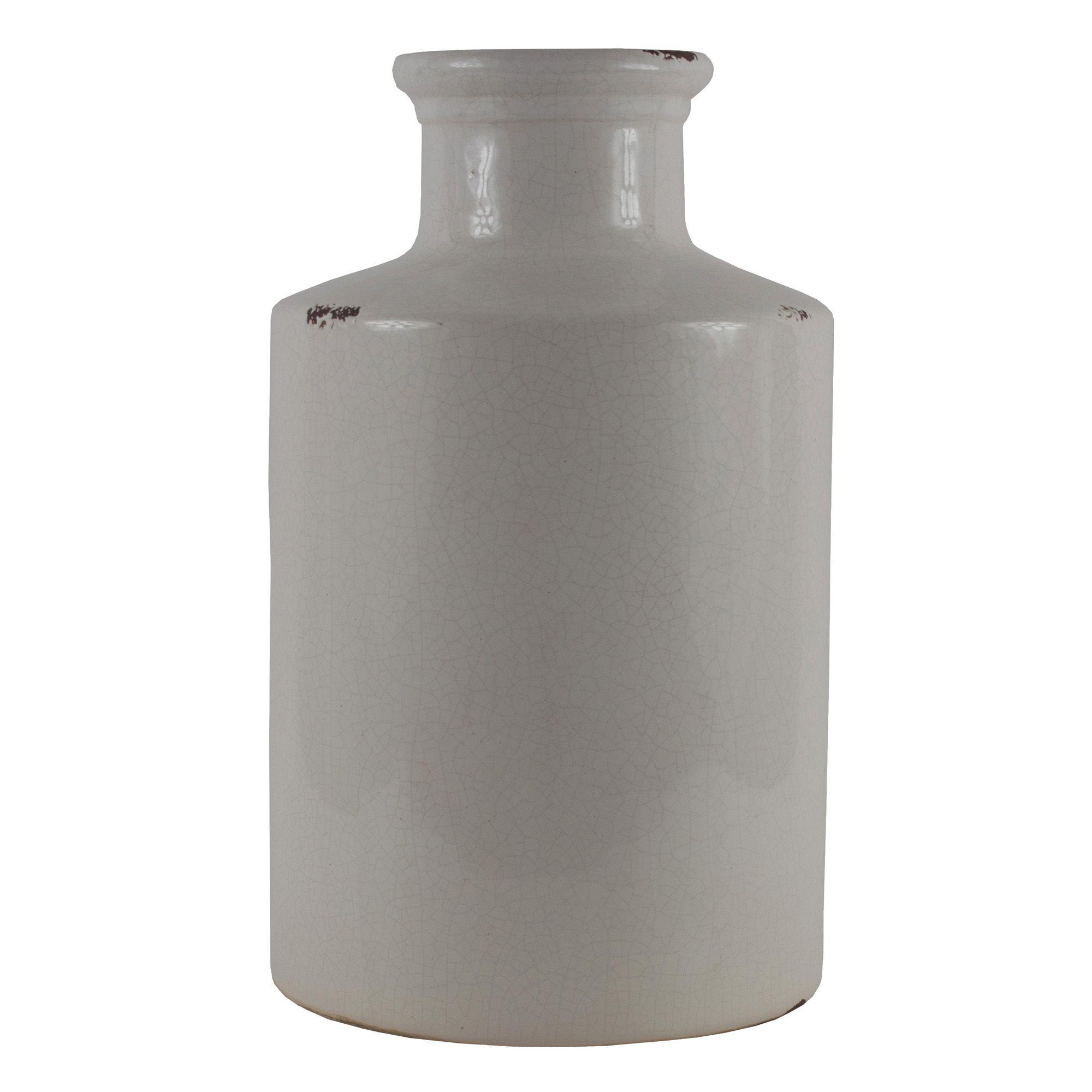 Cream ceramic vase large departments diy at bq reviewsmspy