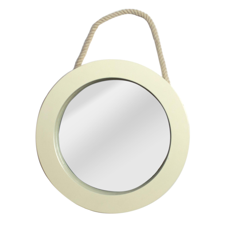 Q >> Colours Solid Cream Framed Circular Mirror (H)250mm (W) 250mm | Departments | DIY at B&Q