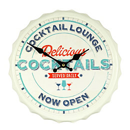 B&Q Bottletop Cocktail Lounge Slogan Retro Multicolour Wall