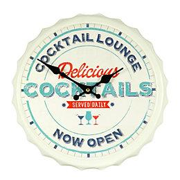 B&Q Bottletop Cocktail Lounge Slogan Retro Multicolour Wall