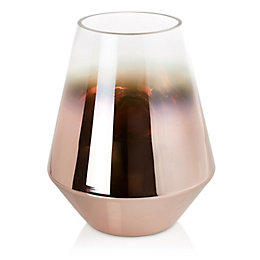Copper Effect Tapered Glass Vase, Medium
