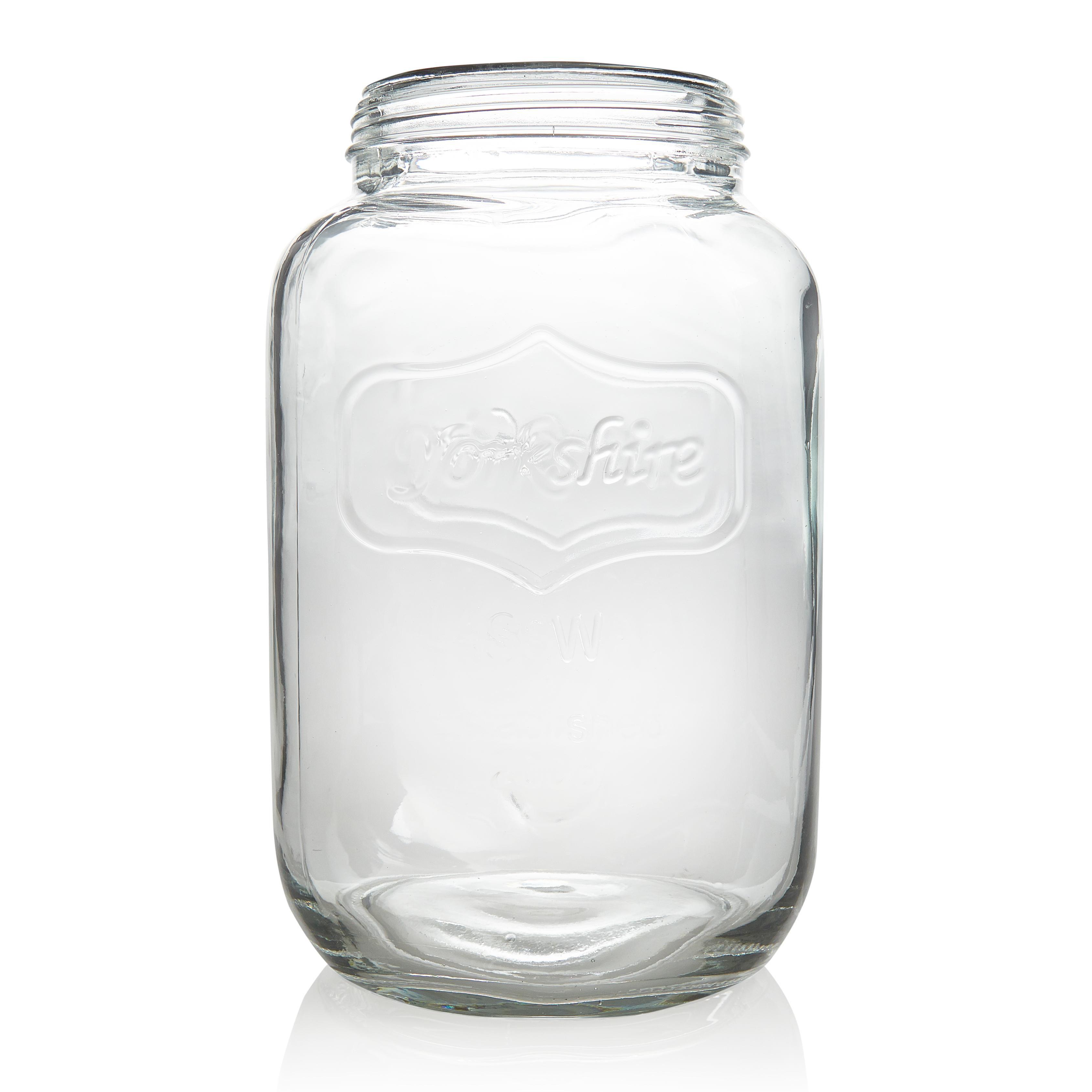 B Q Glass Jar