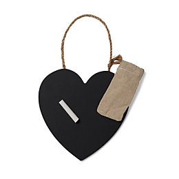 Heart Black Chalkboard (W)160mm (H)160mm
