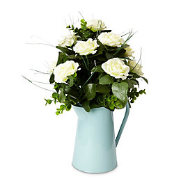 Duck egg Roses Artificial floral arrangement