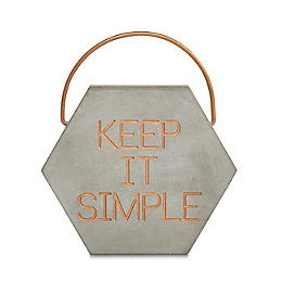 Keep It Simple Concrete Ornament