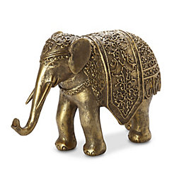 Gold Effect Elephant Resin Ornament