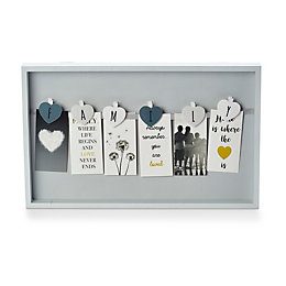 Family Peg Grey Framed Art (W)400mm (H)250mm