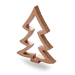 Copper Effect Glitter Finish Tree Ornament