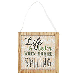 'Life is better when you're smiling' Framed