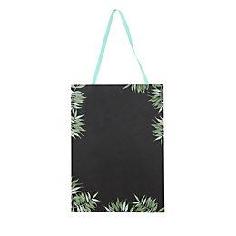 Botanical Leaf Black Chalkboard (W)9mm (H)255mm