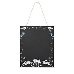 Rabbits & floral Black Chalkboard (W)9mm (H)230mm