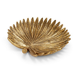 Gold effect Palm leaf Resin Trinket tray