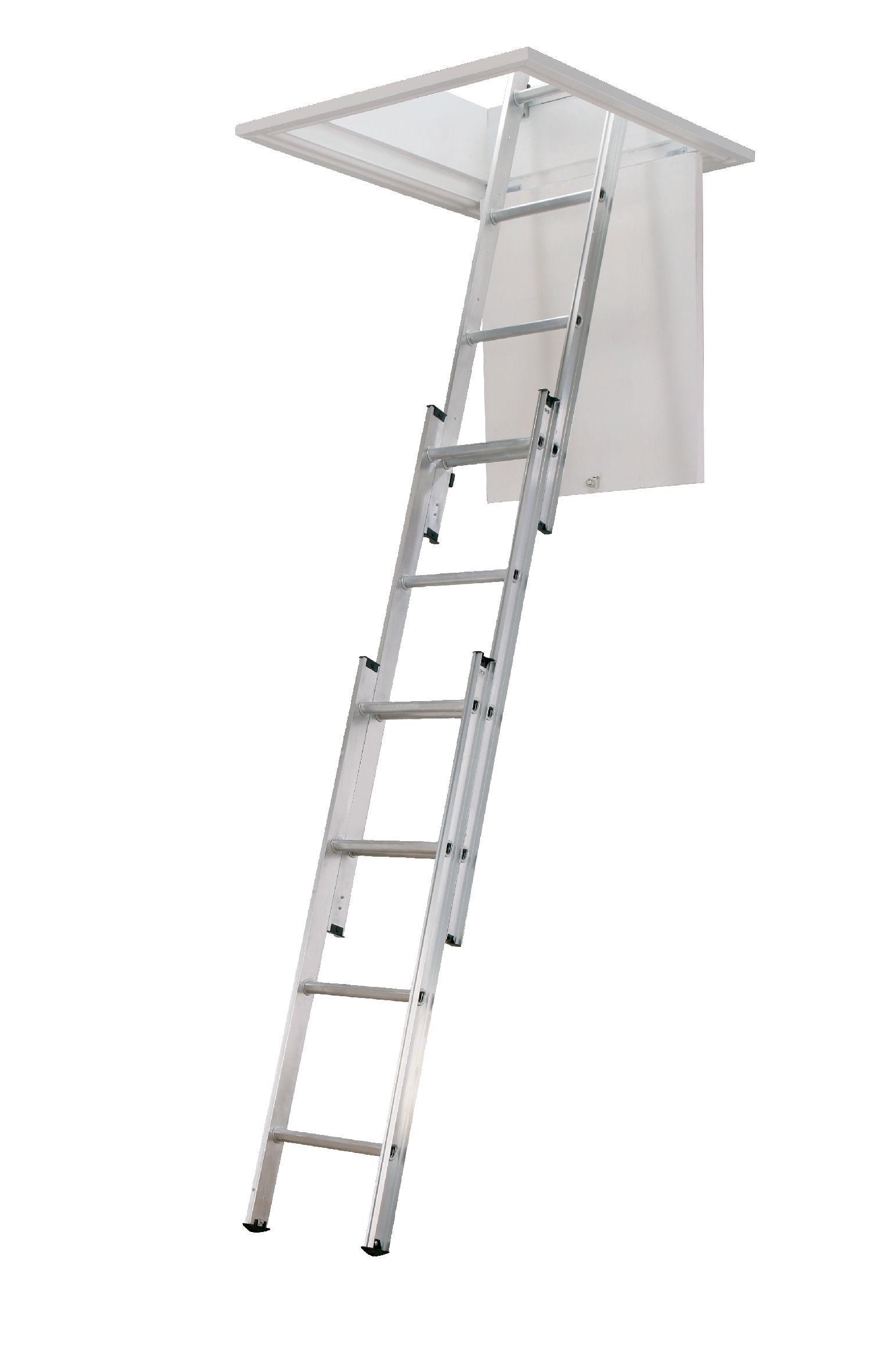 Abru 3 Section 12 Tread Sliding Loft ladder | Departments ...