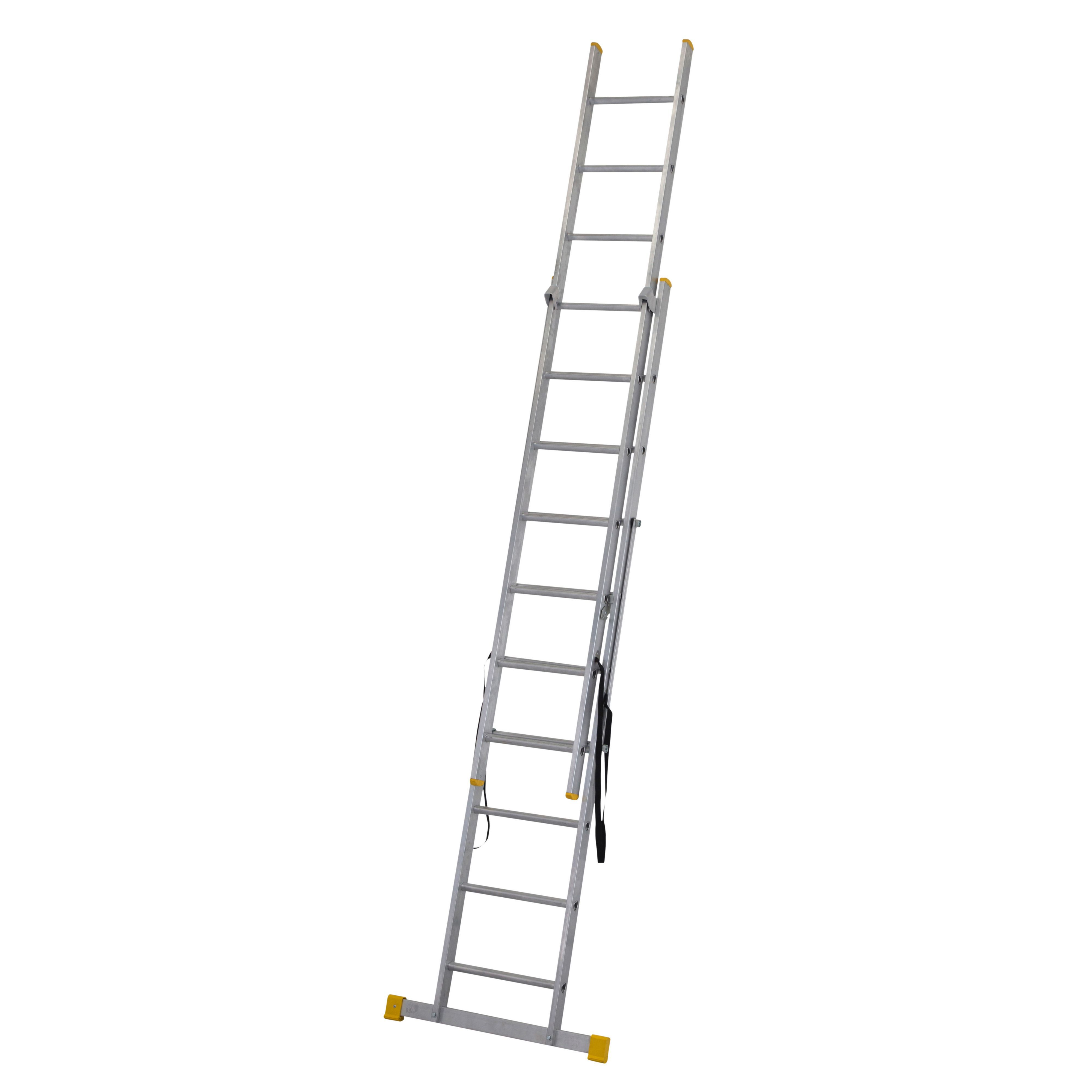 Werner Extensionplus Double 3 Way 19 Tread Combination Ladder Departments Diy At B Amp Q