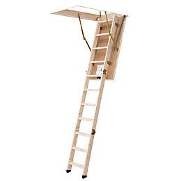 Werner 3 Section 12 Tread Loft ladder