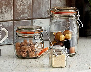 Kilner jar storage for dry goods