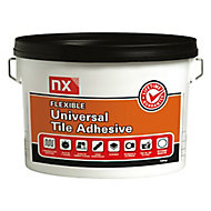 NX Universal Mix with water Wall & floor tile adhesive, Stone white 15 kg
