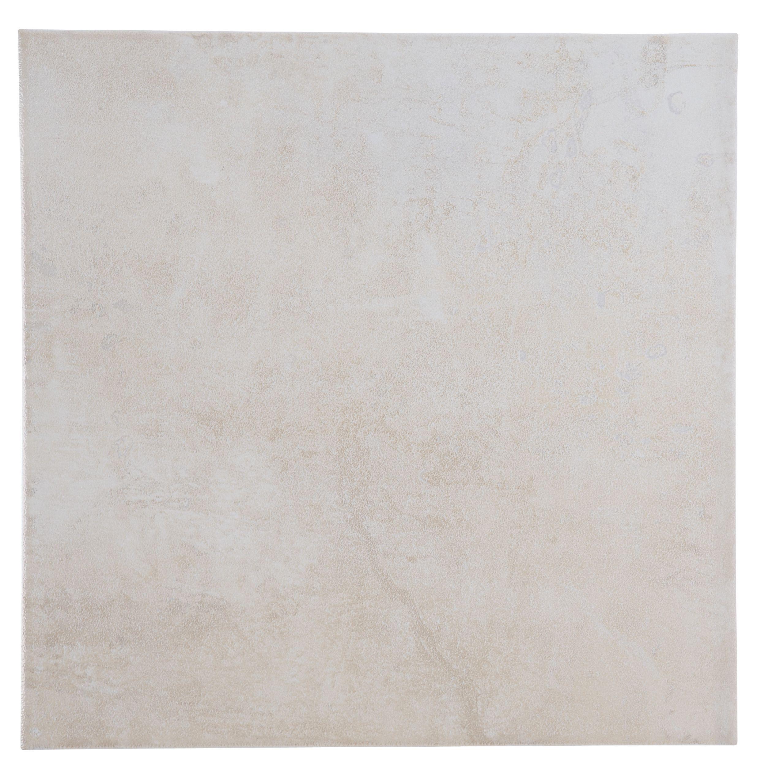 Natural Travertine Mosaic Tile L 300mm W 300mm: Metallic Cream Porcelain Floor Tile, Pack Of 16, (L)300mm